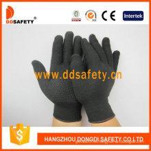 Guantes de nylon / poliéster con guantes sin costura y PVC (DKP419)