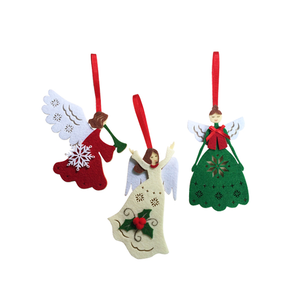 Dancing Angel Felt Christmas Ornaments
