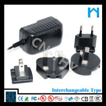 Modern Certified ac plug interchangeable adapter 12w 24w 36w 48w 60w