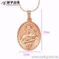 32144 Colgante Oval Mary en oro rosa, colgante de madre e hijo. Joyas.
