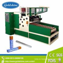 Línea de máquina de rebobinado de rollo de papel de aluminio Autmatic
