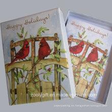 20 tarjetas y envolturas del día de fiesta Tarjetas del día de fiesta del saludo con la caja de empaquetado