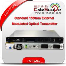 Profissional fornecedor Alta performance CATV 1550nm Padrão externo Modulated Optical Laser Transmitter