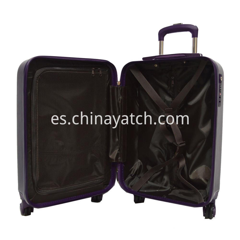 ABS Luggage Set with Attractive Grain and Airplane Wheels