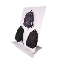 Expositor de mochila de acrílico para loja de varejo