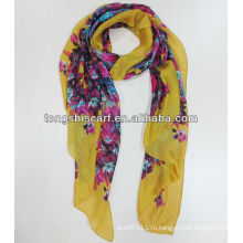 сатинировка полиэфира шифоновый шарф