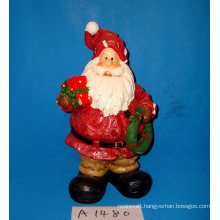 Christmas Decoration Resin Santa with Gifts
