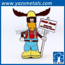 custom cartoon figure design hard soft enamel badges