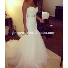 Alta Qualidade Custom Made Sweetheart Mermaid Vestido de noiva barato Alibaba Tulle Vestidos de noiva Vestidos de noiva 2017 Made In China