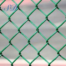 China Malla verde del diamante de la cerca del acoplamiento de cadena del PVC