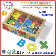 2015 Juguetes de madera de la nueva guardería Juguetes educativos magnéticos coloridos