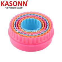 Круглый пластиковый набор печенья с волновой кромкой