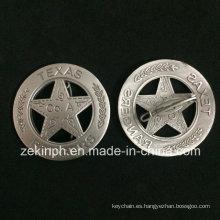 Solapa de la galjanoplastia de la antigüedad de la aduana 3D medalla de la medalla