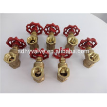 non return brass stem forged PTFE seated 4inch NPT thread brass gate valve regular pressure full port