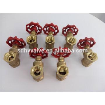 non return brass stem forged PTFE seated 4inch NPT thread brass gate valve regular pressure full port