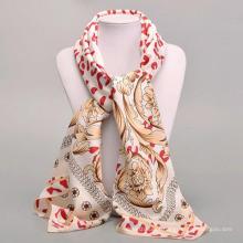 Estilo de moda por atacado 100 * 100 cm lenço quadrado mulheres ascot neckwear