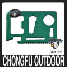 Chongfu couteau multifonction de carte de crédit en plein air couteau en gros
