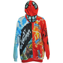 Super Man Design Sport Style Hoodie with Color Printed (H0001)