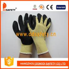 Guantes de corte y resistencia al calor, forro de fibra de aramida amarilla -Dcr512