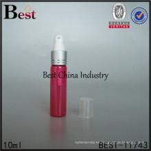 Botella de perfume de cristal del color rojo de 5ml 10ml 15ml 20ml 30ml, botella de cristal vacía para el perfume de China de alibaba