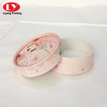 Custom gift round powder box printing