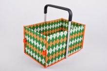 사용자 지정 위 드 쇼핑 바구니-싱글 핸들 접기