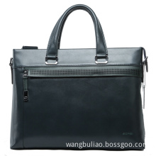 Green Cowhide Leather Briefcase Computer Bag