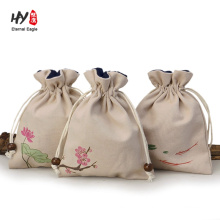 wholesale custom chinese style linen gift bag
