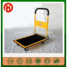 faltbare heacy Kapazität tragbarer Plattformhandlaufkatze mit Radhandlastwagenanhänger