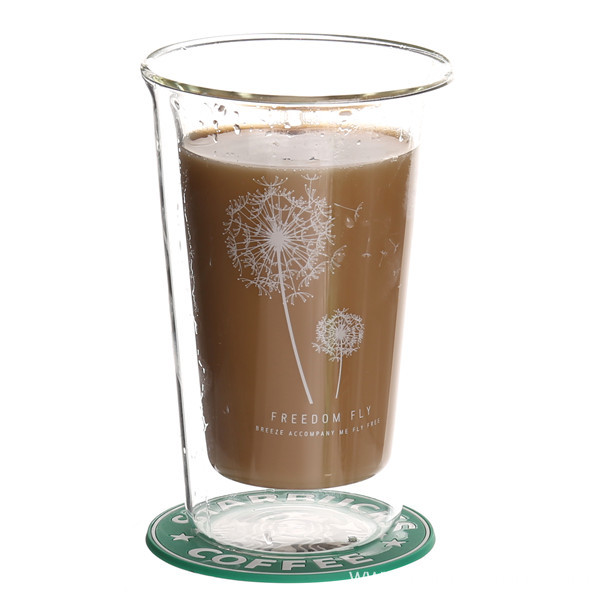 Double Wall Clear Glass Coffee Cup
