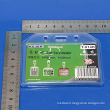 Custom hard plastic rigid name card holder/Crystal card holder