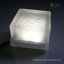 Tuile blanche de la conception unique 10 * 10mm 3W LED pour la décoration de jardin
