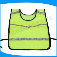 Läufer reflektierende Weste mit reflektierendem Band und seitlichem elastischem Band