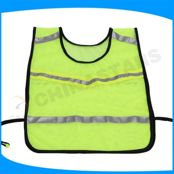 Runners reflective vest with reflective tape and side elastic band