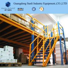Mezzanine de système de rangée multi de support en métal d'étagère