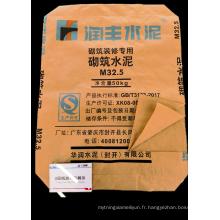 Sac de ciment en papier kraft à deux plis