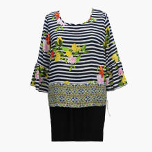 2020 New Leisure Tropical Printed Blouse