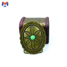 Hebilla de cinturón de cobre macizo por encargo