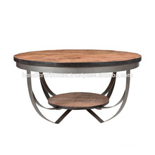 Industrial Wood and Metal Coffee Table