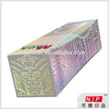 No printing silver laminated paper for wine box packaging with hologram effect