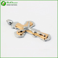 2015 Best Selling Men Jewelry 316L Stainless Steel Gold Cross Pendant