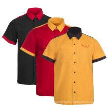 Wholesale Custom Short Sleeve Workwear Button Down Male T Shirt