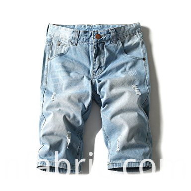 515men S Light Weight Jean Shorts Brush Denim Short