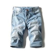 Short en jean léger pour hommes Brush Denim