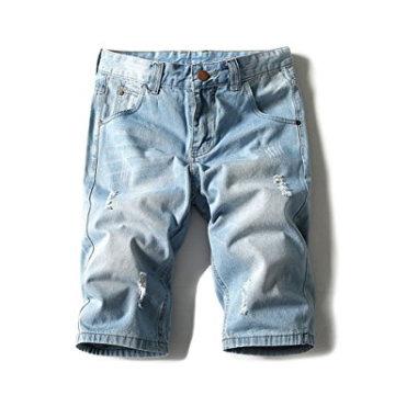 Shorts de jeans leve de peso masculino Denim Brush curto