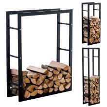 Iron Powder Coated Detachable Storage Firewood Rack