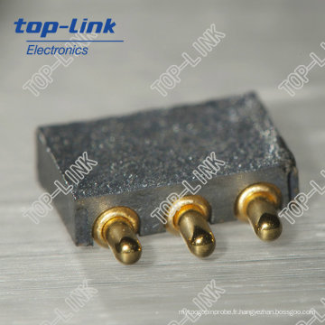 2.50mm Pitch Angle droit 3pin Pogo Pin Connector