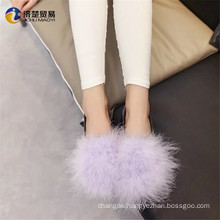 Four colors are available china product casual fur shoes for lady