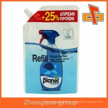 Laminierte Stand-up-Ausguss-Ausgießer-Beutel für Waschmittel- oder Reinigungsmittelverpackungen