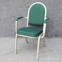 Стул зеленый подлокотник (МК-ZL12-01)